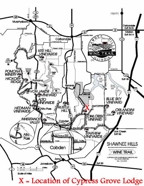 Cypress Grove Lodge Location